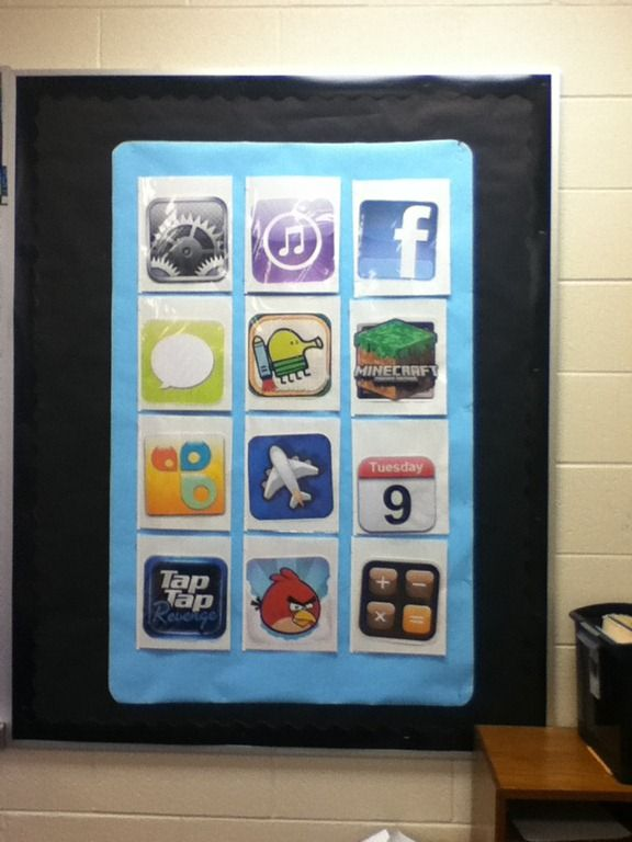iPad bulletin board | ve got some other fun tech themed boards in the works too that I ...