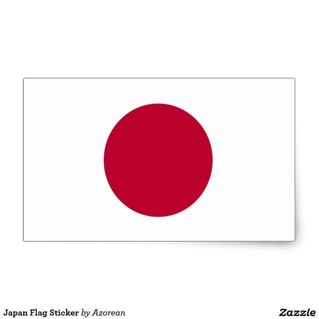 Japan Flag Sticker Zazzle Com Japan Flag Flag Japan