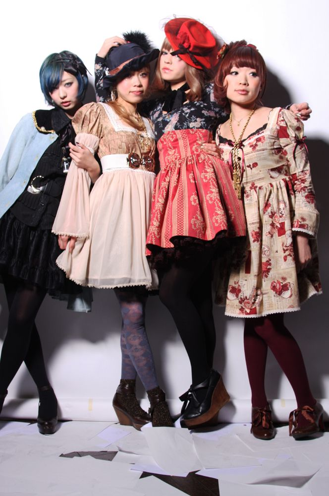 Japanese Street Style now. I love only 2 dresses the tan one and the tan one with red flowers on it.