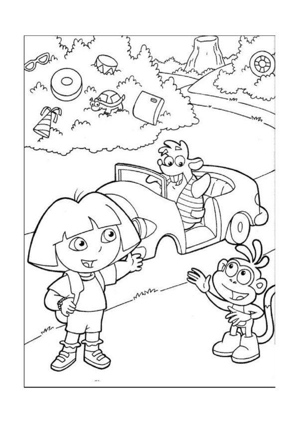 Coloriage dessins dora l 39 exploratrice 27 coloriage - Diego l explorateur ...