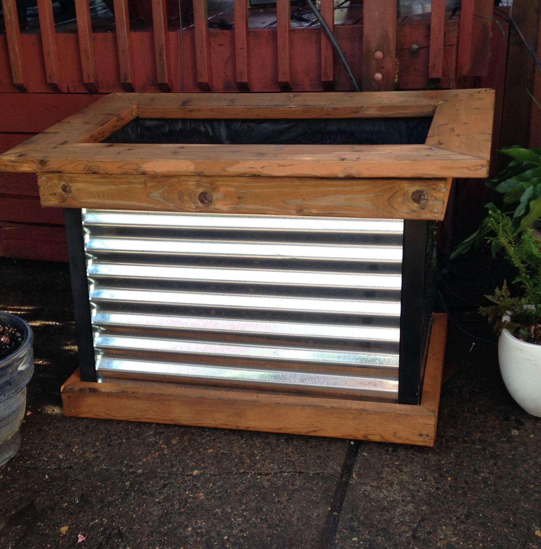 Corrugated Metal And Cedar