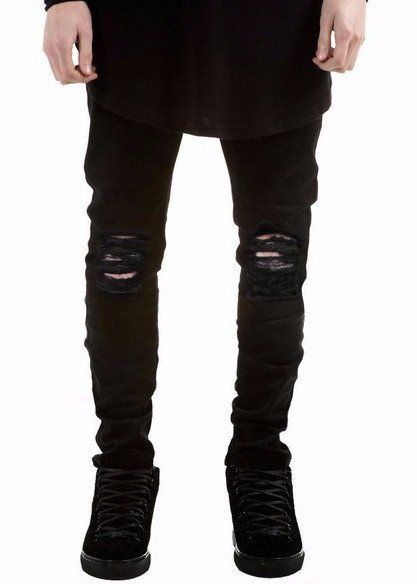 72859fd7 Men's Black Distressed Skinny Jeans in 2019 | MENS JEANS | Ripped ...