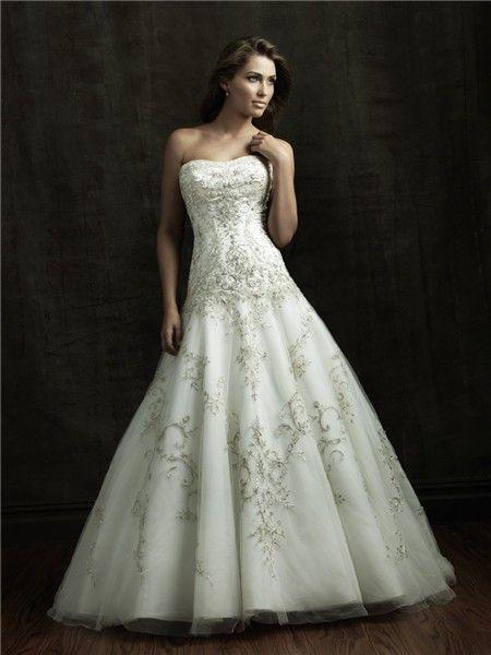 Glitter Wedding Dresses   Ball Gown Strapless Satin Tulle Wedding ...