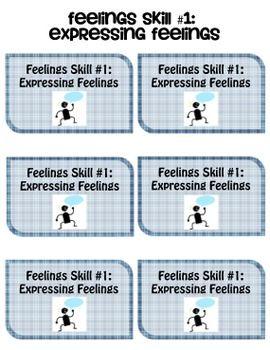Social Skills Cards: Feelings Pack