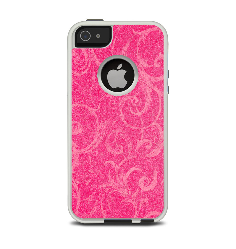 The Subtle Pink Floral Laced Apple iPhone 5-5s Otterbox Commuter Case Skin Set