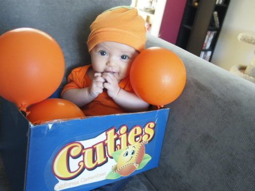 box of cuties clementines homemade baby costume more creative baby halloween costume ideas on frugal coupon living