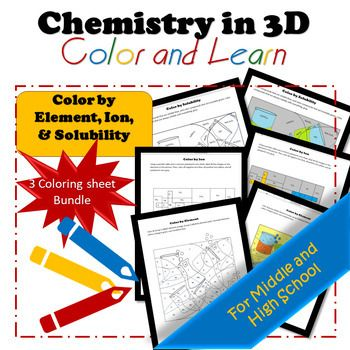 Bundle* Color by Element, Ion, and Solubility Worksheets, Student - best of periodic table of elements handout