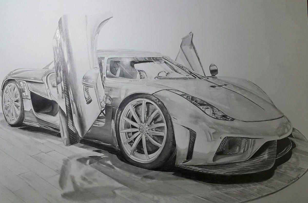 KOENİGSEGG Oğulcan Draw to Drive Car art, Car sketch