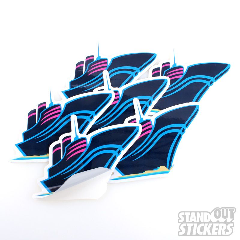 PINK DOLPHIN CLOTHING COMPANY DIE CUT CUSTOM VINYL STICKERS Die - Custom vinyl decals die cutcustom vinyl decals standout stickers