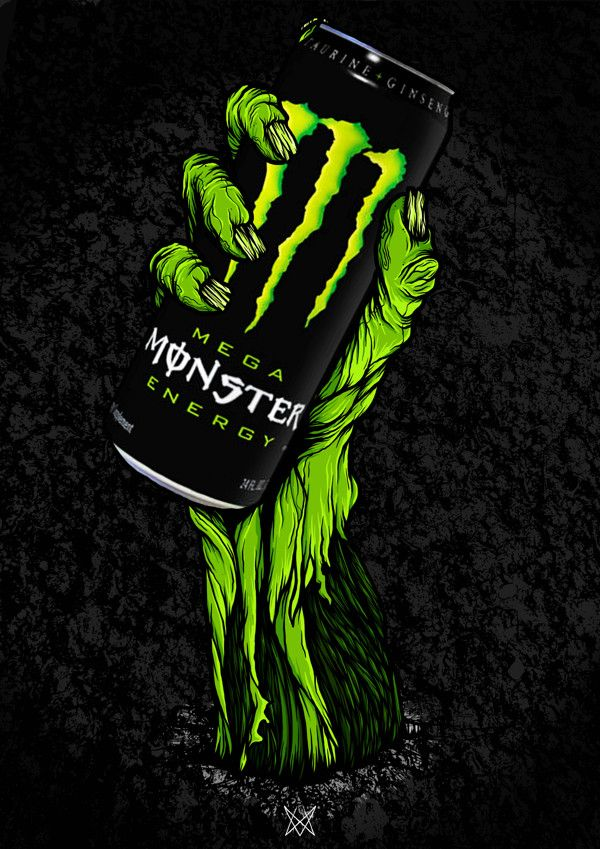 Brands And Labels On Behance Monster Energy Monster Energy Drink Logo Monster Energy Drink