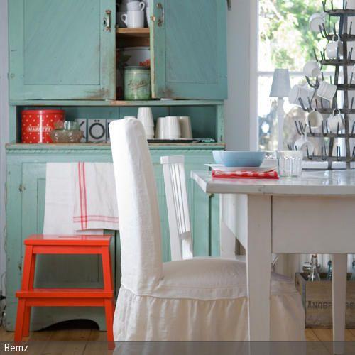 Küchenschrank in Shabby Chic Schmirgelpapier, Alter - küche streichen welche farbe