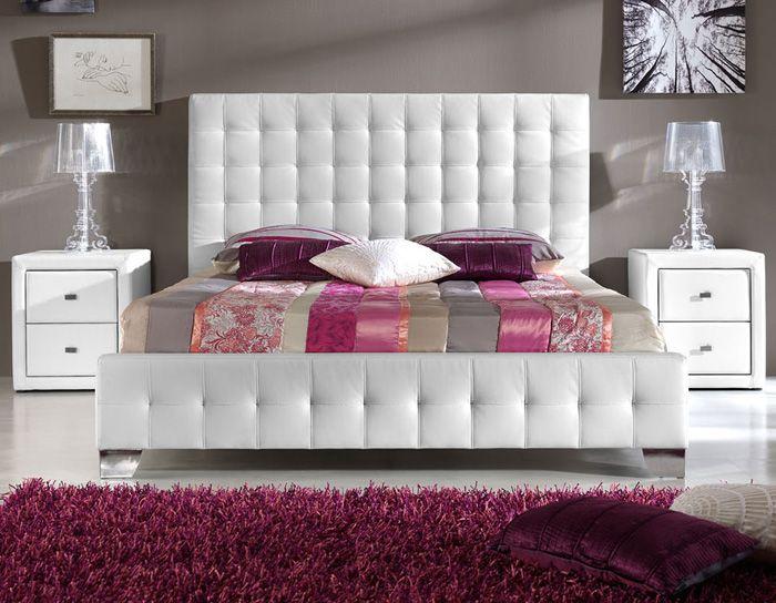Cabecero de cama tapizado respaldos pinterest camas - Cabeceros cama acolchados ...
