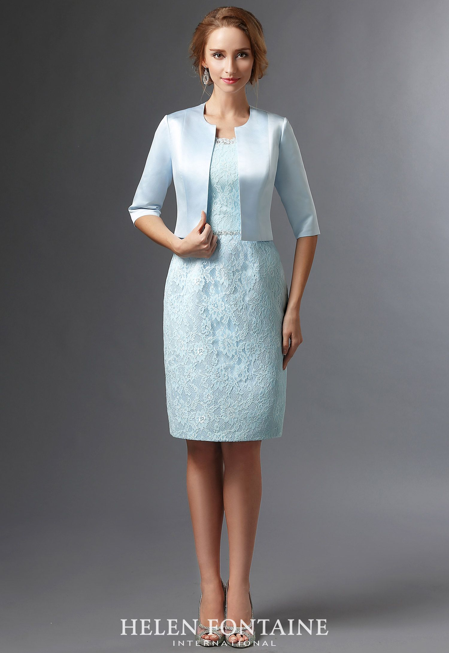 Short Sheath Navy Blue Mother of the Bride Dresses With Jackets ...