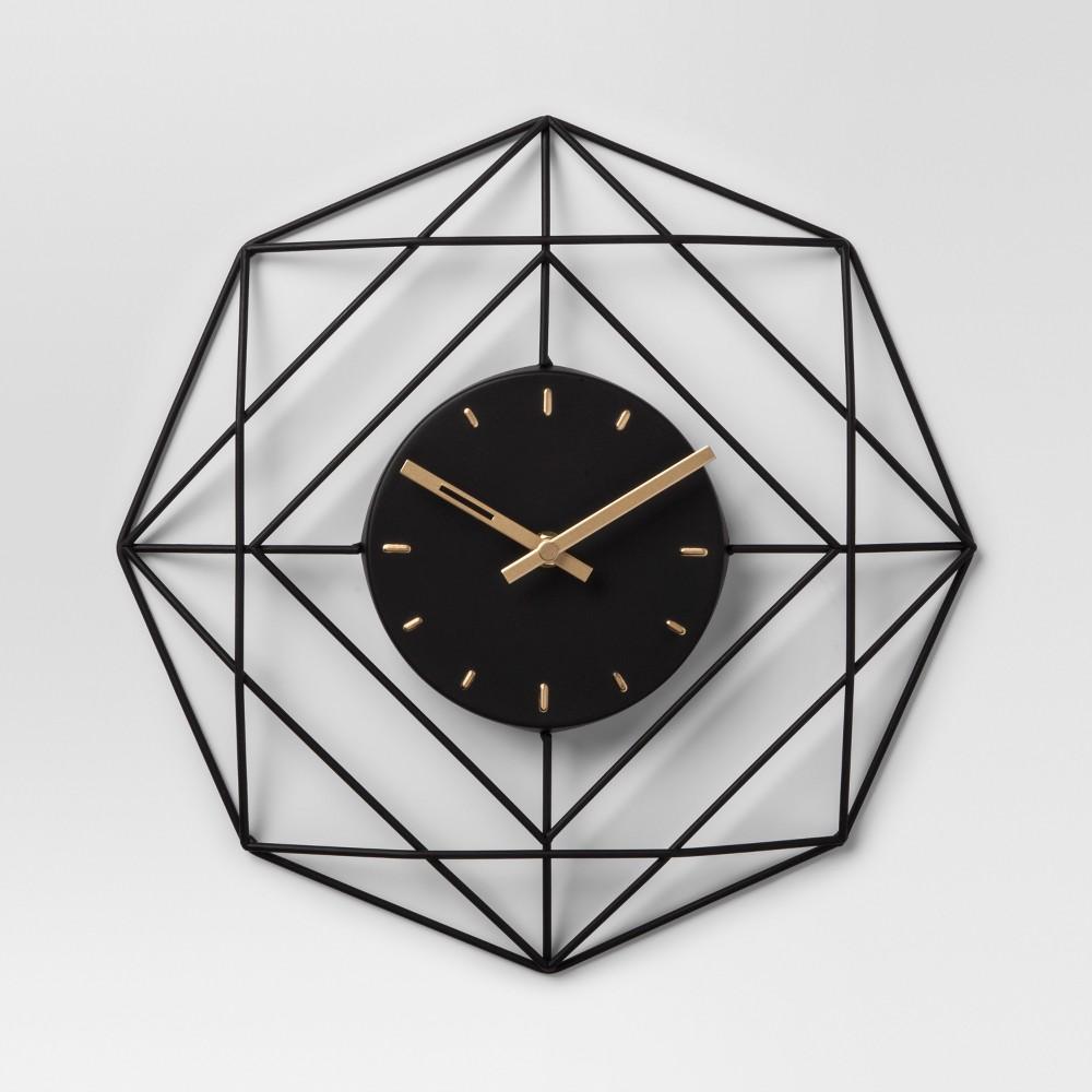 Decorative Clock Black Project 62 Clock Decor Clock Wall Decor Roman Numeral Wall Clock