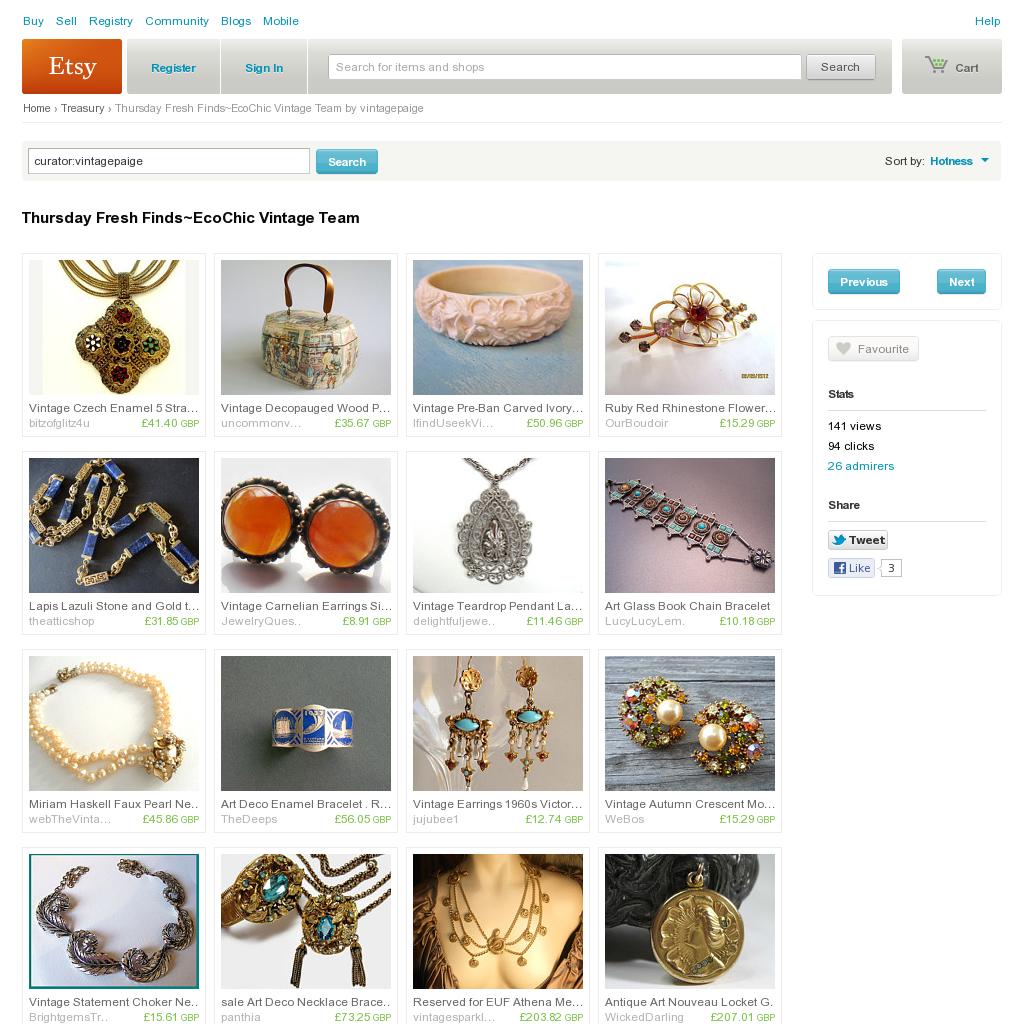 Website 'http://www.etsy.com/treasury/OTExNjg1NXwyNzIzMjk2ODUw/thursday-fresh-findsecochic-vintage-team' snapped on Snapito!