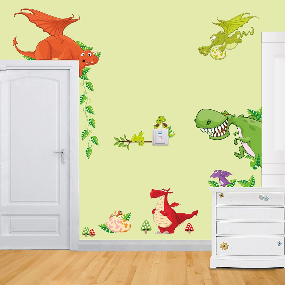 Dinosaurs Wall Sticker Decals For Kids Children Bedroom Nursery Home ...
