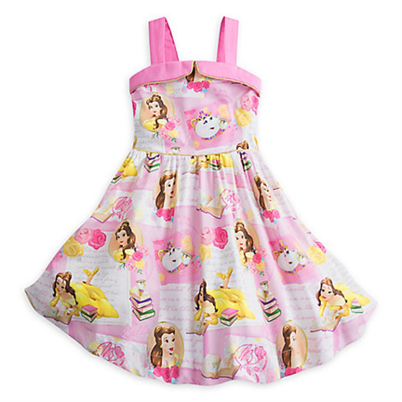Nice Amazing Disney Store Belle Woven Party Dress Girls Beauty