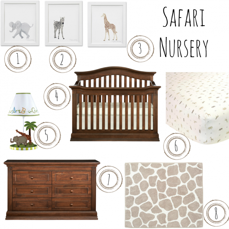 Safari Nursery Ideas: Safari Nursery Inspo Board - Montana Brown Sugar