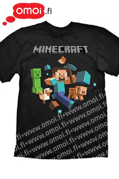 Minecraft t-shirt: Run Away (Unisex) - 19,00 EUR : Manga Shop for Europe, A great selection of anime products