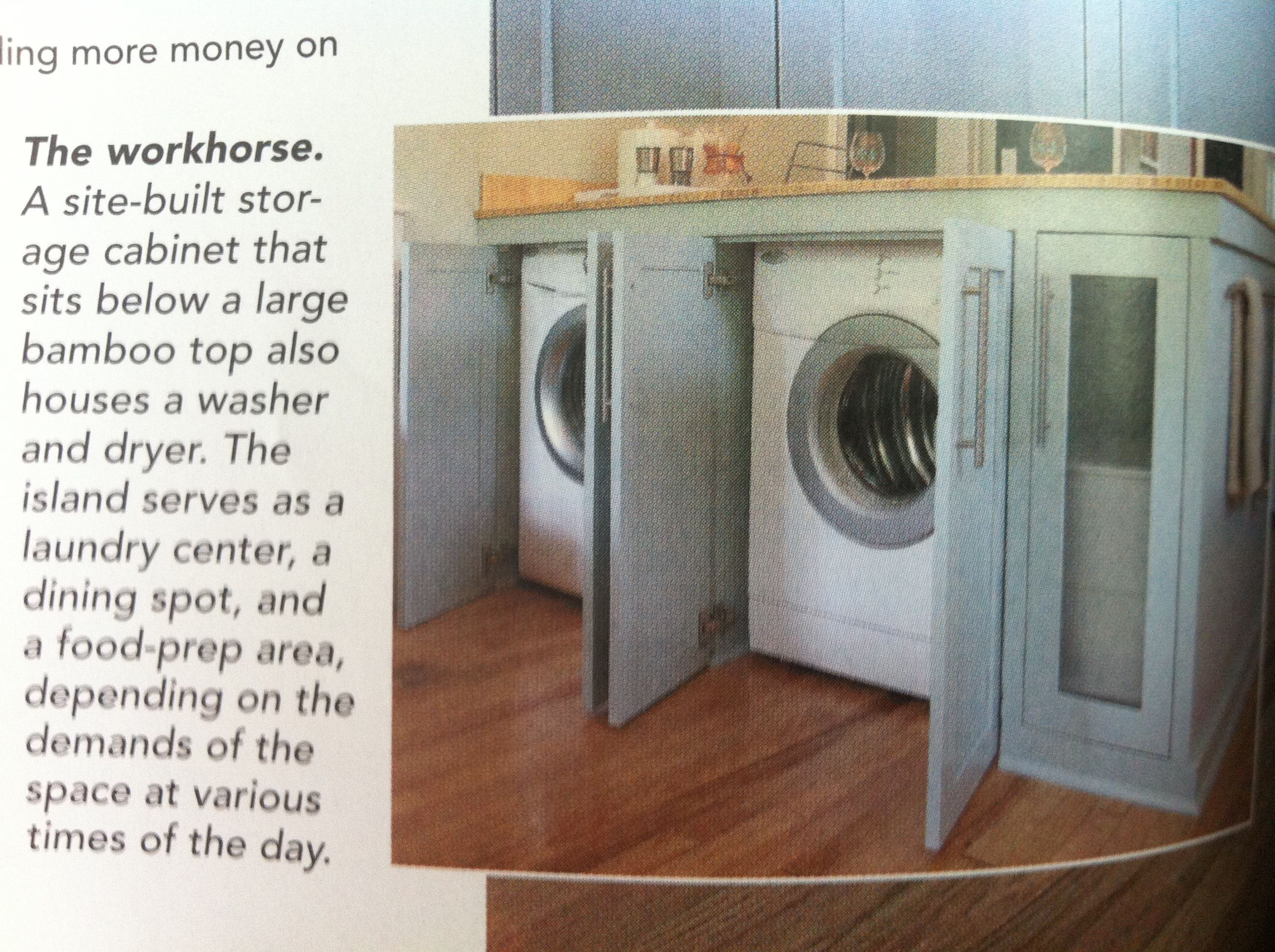 Washer/Dryer Located Under Kitchen Island. Great Idea For Small House. Part 48