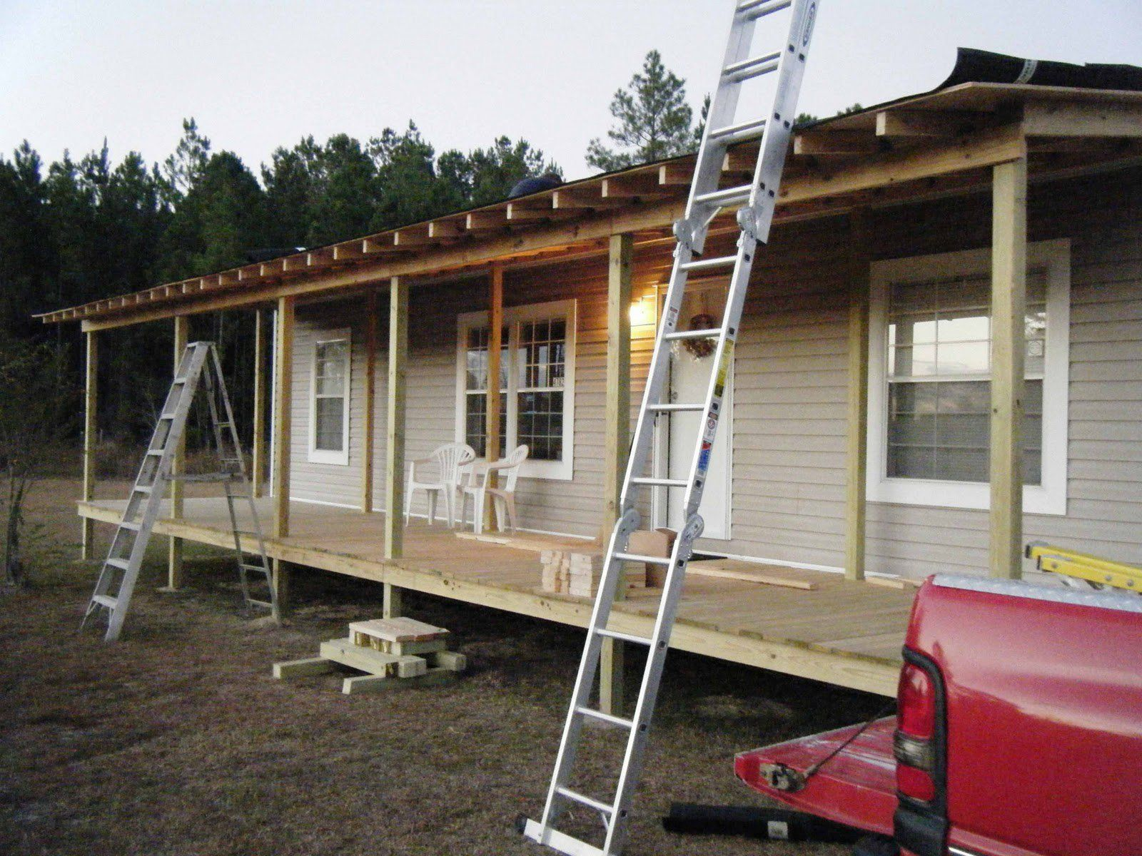 Build A Porch On A Mobile Home Google Search In 2019