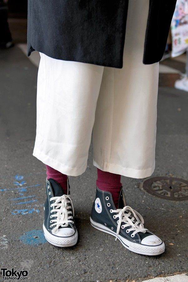 Cropped Pants & Converse Chuck Taylor High Tops | Fashion ...