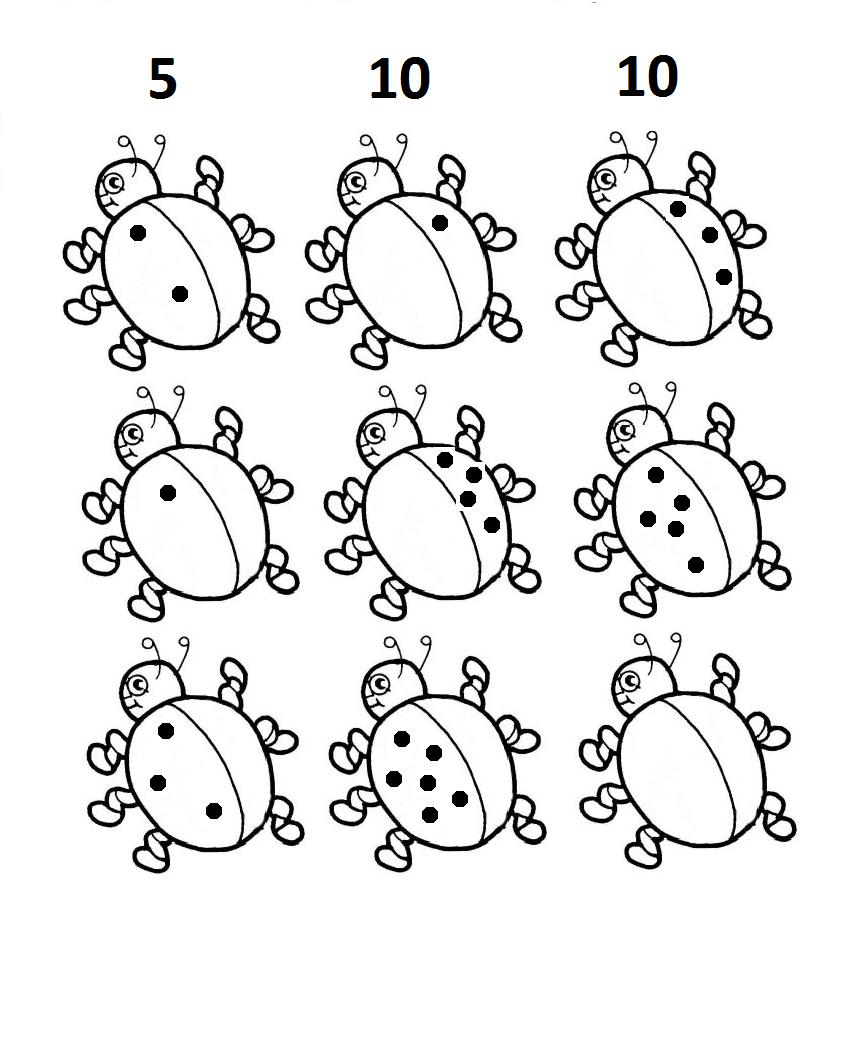 Lieveheersbeestjes Kleurplaat Printen Lieveheersbeestjes Splitsen Groep 3 Werkblad Groep 3