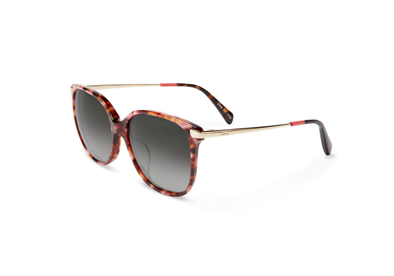 31d38b6e3c Cette paire de lunettes de soleil surdimensionnée inspirée des années 1970  mêle une ravissante monture à imprimé confetti toute en subtilité, ...