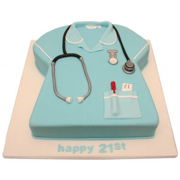 Nurse Uniform Birthday Cake Nurse cakes Birthday cakes and Cake