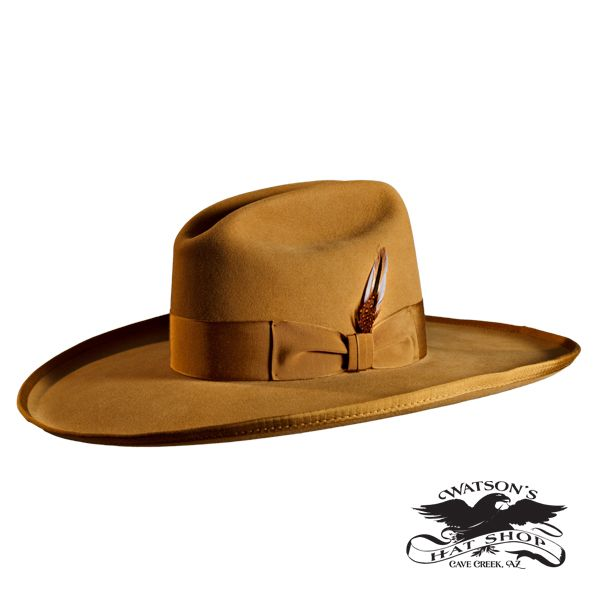 45a18f86f Level Tom Mix Hat - Watson's Hat Shop - Shown in Pure Beaver Fur ...