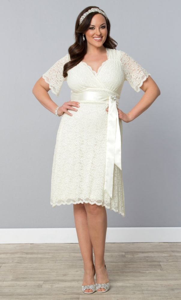 Lace Confections Wedding Dress | Plus Size Reception Dresses ...