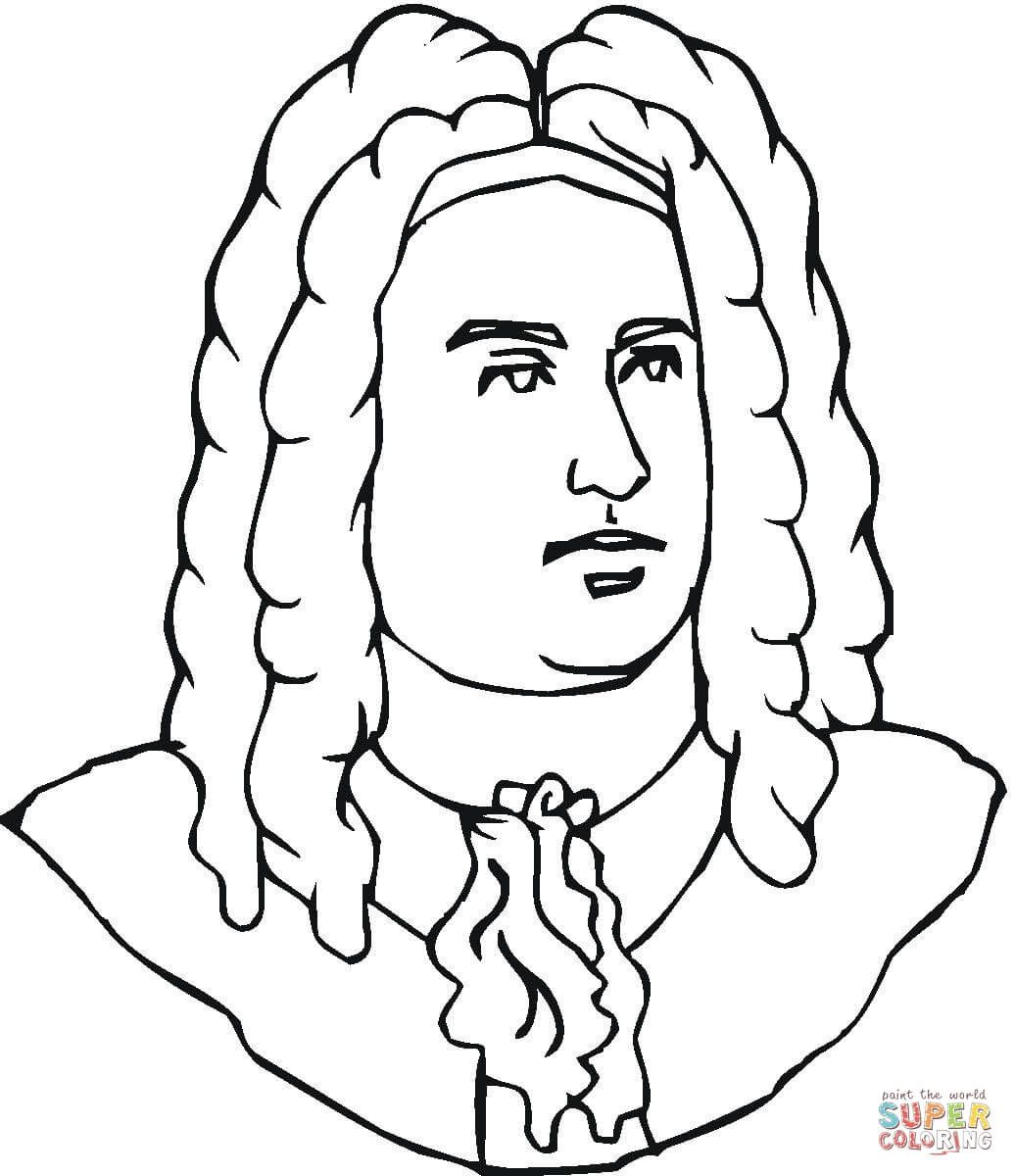 George Handel Super Coloring Coloring Pages Music Coloring Art