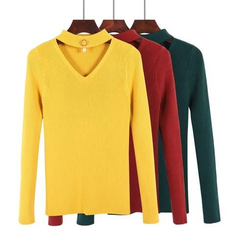 411301c11632 ONLYSTAR Thick V-Neck Women Pullover and Sweater Autumn Winter Warm ...