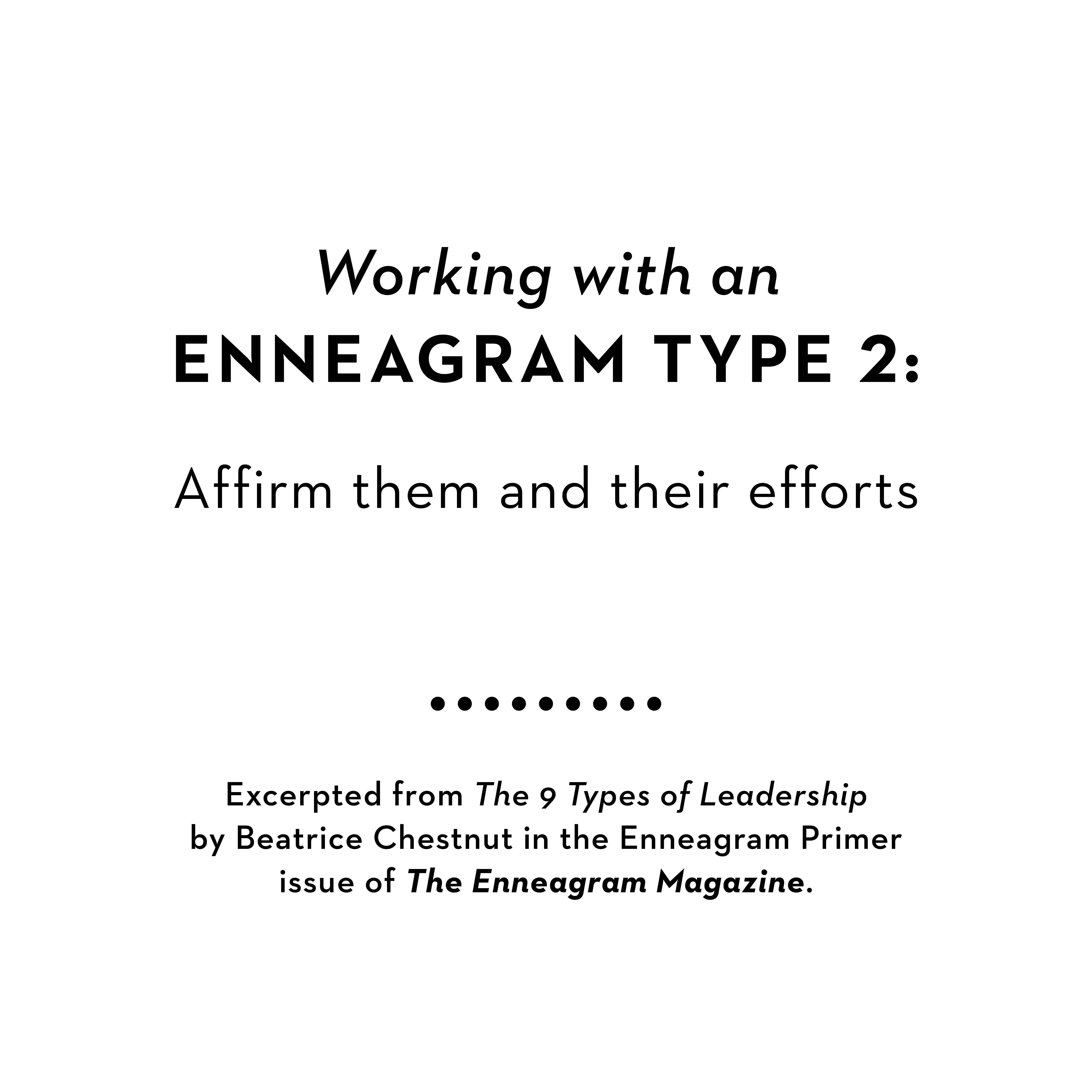 Working with an Enneagram 2
