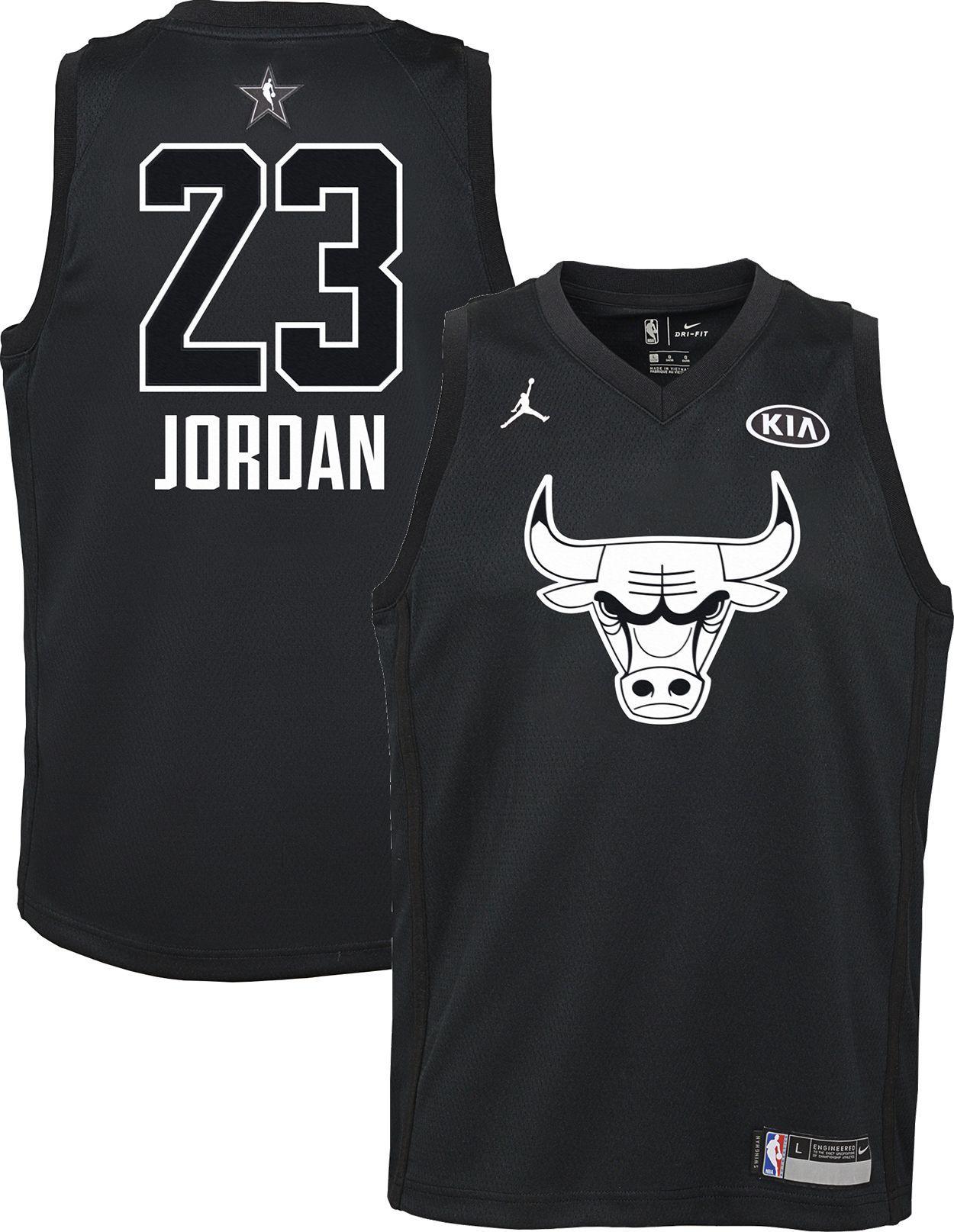 100% authentic f67ed aa1d6 Jordan Youth 2018 NBA All-Star Game Michael Jordan Black Dri ...