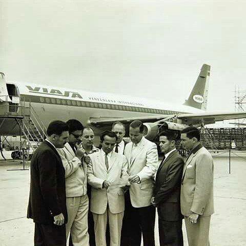 Convair 880-22M (YV-C-VIA). De la aerolínea Viasa. Fotografía tomada previa a la entrega de la aeronave en San Diego, California el 01/08/61