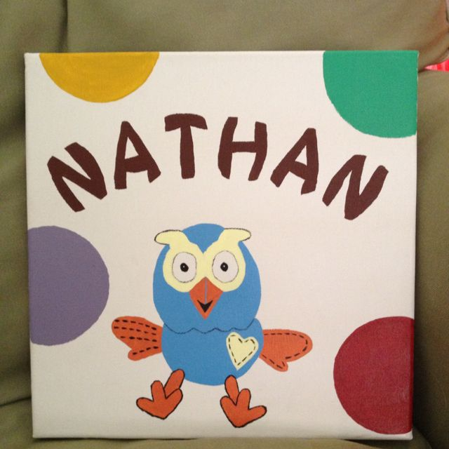 Personalised hand painted canvas $50