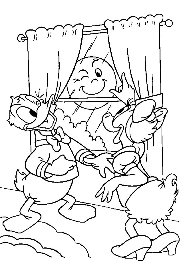 Donald Duck and Daisy Duck Coloring Page | It\'s Donald Duck Day ...