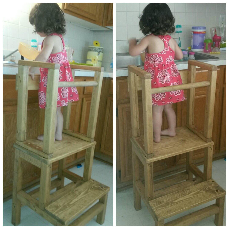mommy s little helper kitchen helper step stool montessori rh pinterest nz