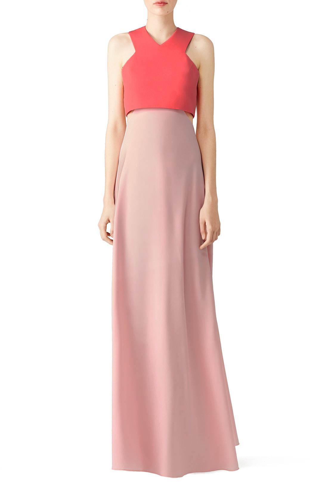 Rent Pink Two-Toned Popover Gown by Jill Jill Stuart for $70 only at ...