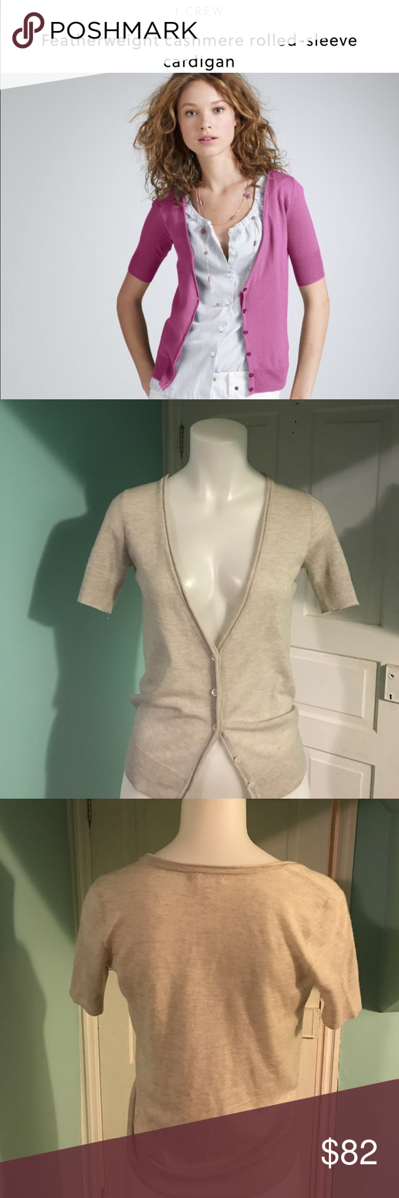 J. Crew Featherweight cashmere cardigan Beige XS J. Crew Featherweight cashmere cardigan Beige XS. Excellent. 100% Cashmere. J. Crew Sweaters Cardigans