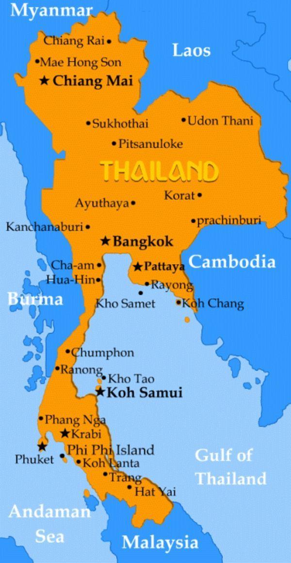 hailand rundreise landkarte thailand | Wanna Travel? | Pinterest ...