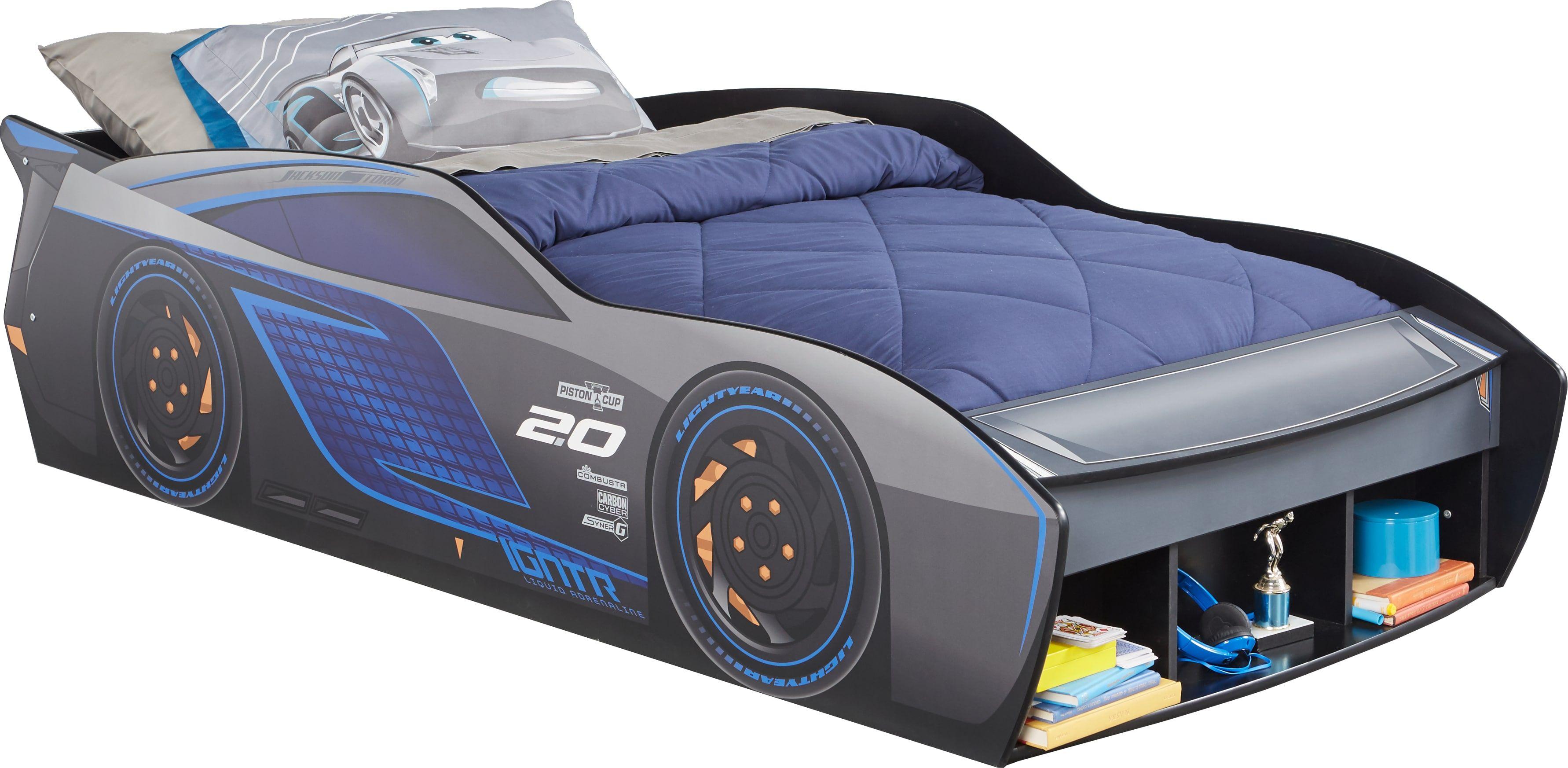 Disney Cars Jackson Storm Blue 3 Pc Twin Car Bed Twin Car Bed Car Bed Twin Car
