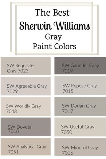 The Best Sherwin Williams Gray Paint Colors images