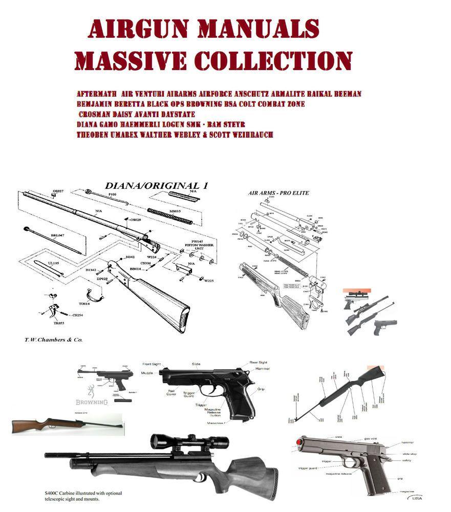 Details About Air Rifle User Manual Rifle Crosman Bsa Smk Diana Colt