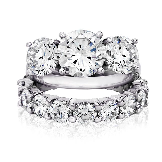 20 Ct Round 14K CZ Wedding Set White Gold Cubic Zirconia Rings