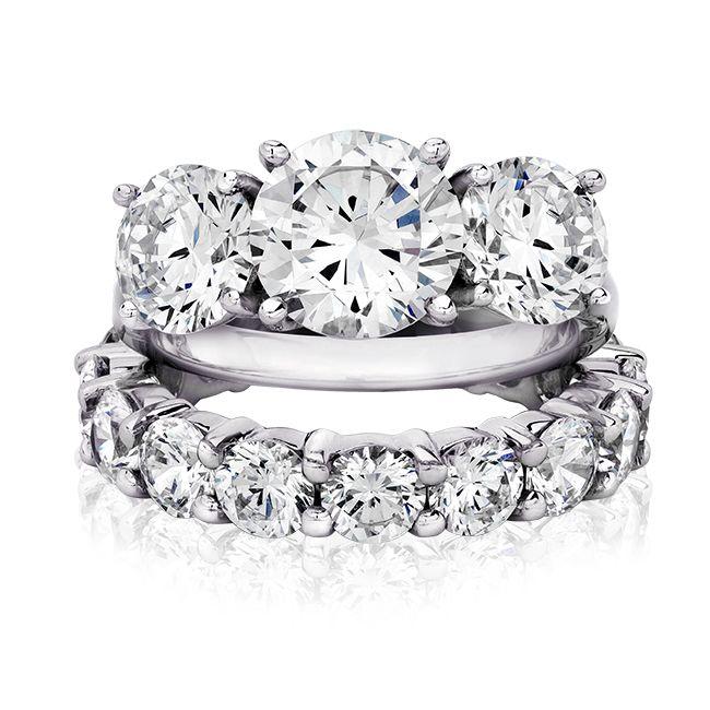 ring 20 ct round 14k cz wedding set white gold - White Gold Cubic Zirconia Wedding Rings