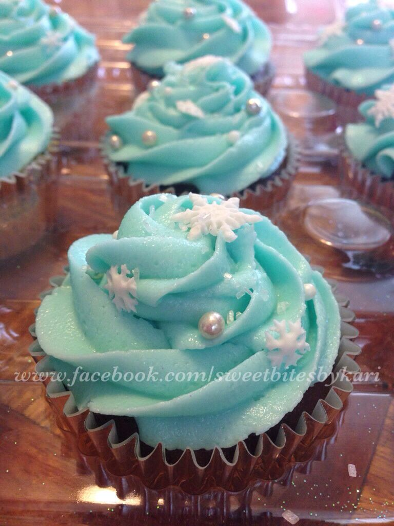 Frozen Theme Cupcakes Like Us Facebook Sweetbitesbykari