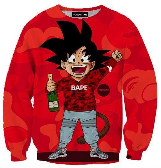 d5568ea82aec Dragon Ball Z Hoodies - Kid Goku Bape Style Hoodie - DBZ CLOTHING ...