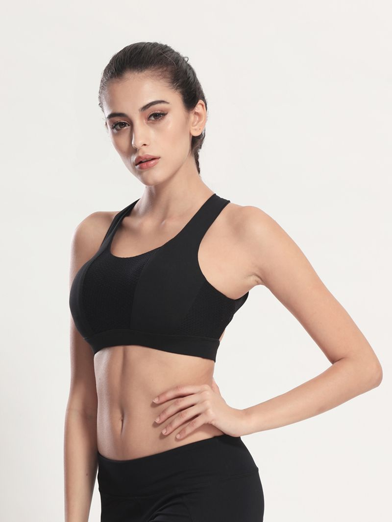 56e0e043b72e3 Women Cross Straps Shockproof Yoga Bra Sexy Push Up Padded Fitness Sports  Vest Stretch Breathable Gym Running Tank Tops